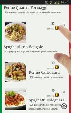 web restaurant spaghetti comanda