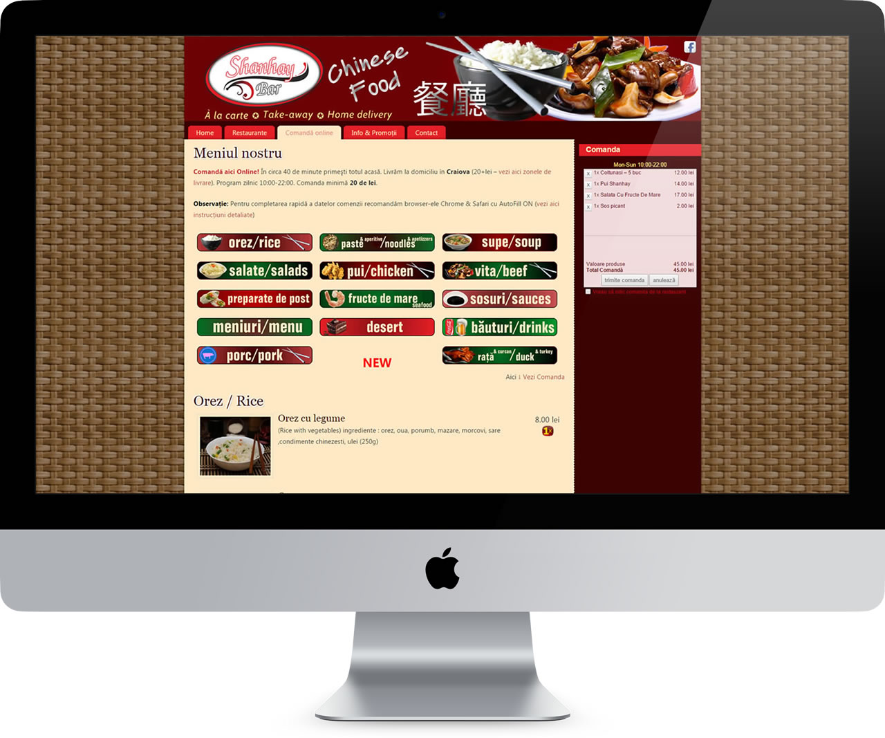website 027 responsive restaurant chinezesc shanhay bar - livrare domiciliu