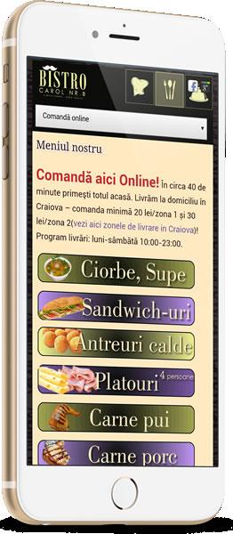 website 069 responsive restaurant bistro carol craiova